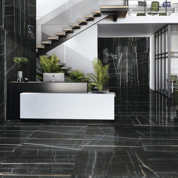 Carrelage sol et mur aspect noir TITANIUM 60X60