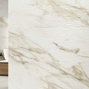 Carrelage mural aspect blanc TONN ADAGGIO GOLD 40X120