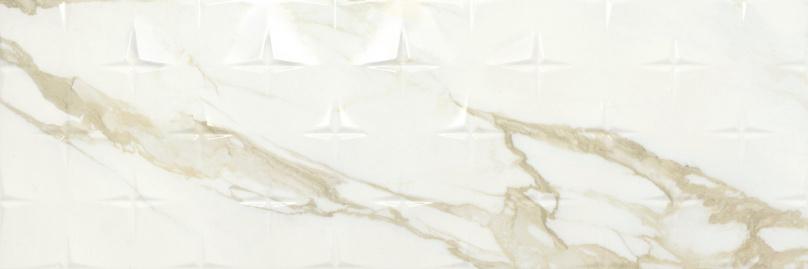 Carrelage mural aspect blanc ORNAMENT ADAGGIO GOLD 40X120