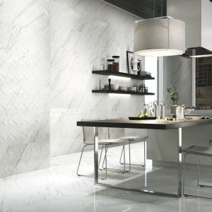 Carrelage mural aspect blanc VANGLIH PULIDO 40X120