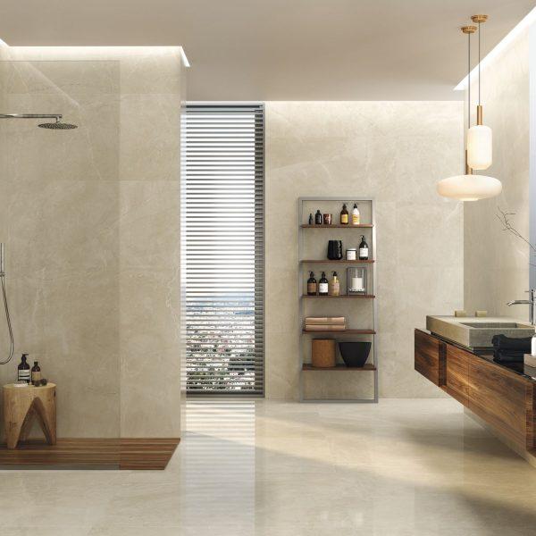 Carrelage sol et mur aspect ivoire BAYONA 60X120