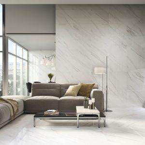 Carrelage sol et mur aspect blanc VANGLIH PULIDO 60X120