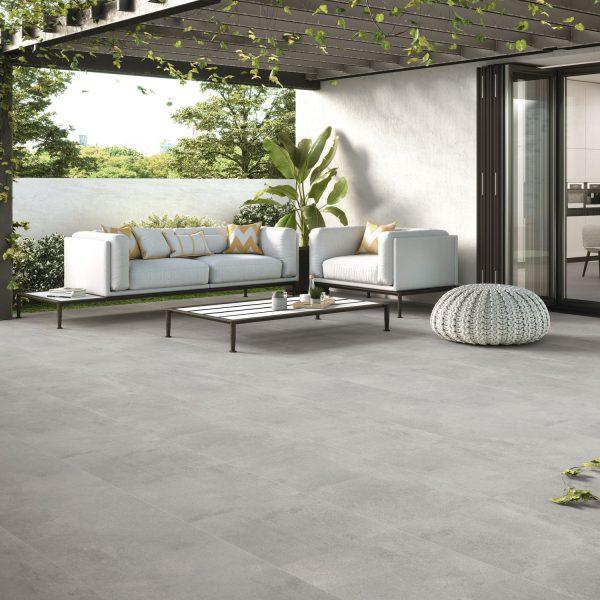 Carrelage sol et mur aspect gris ARKETY BIT BONE 60X60