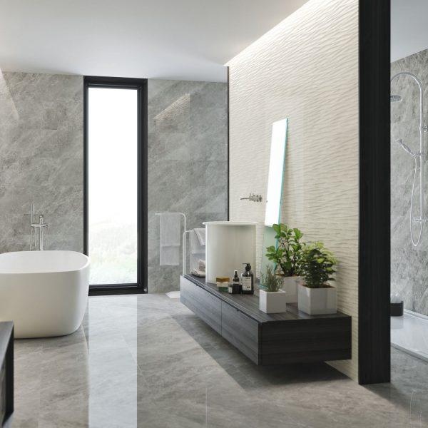 Carrelage sol et mur aspect gris NATURAL 60X60