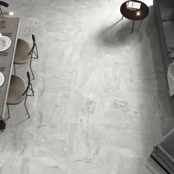 Carrelage sol et mur aspect marbre gris PIENZA AVORIO PULIDO 60X60