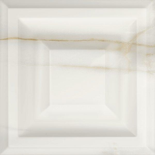 Carrelage mural aspect blanc HYDRA 25X25